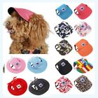 Summer Dog Baseball Hat Canvas Cap Only For Small Pet Dog Outdoor Accessories