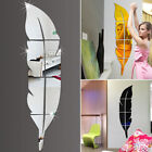 Modern Feather Mirror Removable Decal Art Mural Wall Sticker