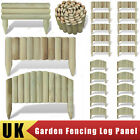 New Log Panel Lawn Edging 5 Models Selectable Wooden Border Garden Patio Yard UK