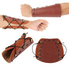 Leather 2 Straps Shooting Bow Arrow Archery Arm Guard Safety Protective Gear w1