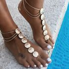 1pcs Bohemian Coin Anklets for Women Barefoot Sandals Chain Anklet Foot Jewelry image