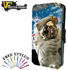 ASTRONAUT FLOATING IN SPACE - Leather Flip Wallet Phone Case Cover