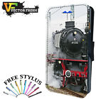 OLD CLASSIC RETRO STEAM ENGINE TRAIN - Leather Flip Wallet Phone Case Cover