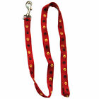 Iconic Pet - Paw Print Leash - Red