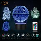 RGB 3D Illusion LED Lamp Star Wars Desk Lantern Night light Kids Cartoon Gifts $2.68 USD on eBay