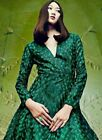 & Other Stories Embroidered Dress Peacock Feather Pattern Mesh S M L H&M Green