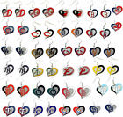 MLB Earrings Licensed Swirl Heart Glitter Team Jewellery Pick Your TEAM on Ebay
