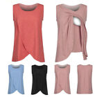 Внешний вид - Women Ladies Maternity Easy Breastfeeding Pregnancy Nursing Summer Top Cotton