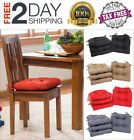 Set of 4 Chair Cushion Microfiber Soft Pad Seat Indoor Outdoor Dining Patio NEW!