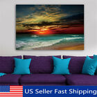 Framed Sunset Beach Sea Modern Canvas Art Painting Print Wall Picture Home Decor