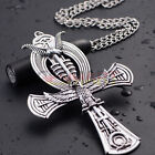 LARGE Ankh Egyptian Cross Life Pendant Ancient Brass Pewter Scripture Horus