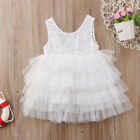 US Toddler Kid Baby Girl Lace Tulle Party Pageant Bridesmaid Formal Tutu Dress T