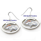 Denver Broncos Football Logo Pendant Earrings With 925 Earring Wires $7.99 USD on eBay