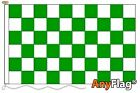 GREEN AND WHITE CHECK CUSTOM MADE TO ORDER VARIOUS FLAG SIZES