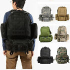 50L Military Tactical Backpack Hiking Camping Travel Outdoor Shoulder Bag LOT MA