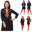 UK STOCK - Women Cotton Indian Short Kurti Tunic Top Kurta Kurta Dress EY02D