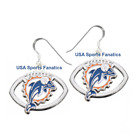 Miami Dolphins Football Logo Pendant Earrings With 925 Earring Wires $7.99 USD on eBay