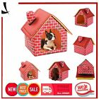 Portable Brick Dog House Warm Cozy Indoor Outdoor Great Cat Puppy Pet Bed TN