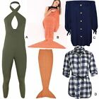 Womens Ladies Top Shirt Jumpsuit Mermaid Blanket Cover All In One Blouse Size UK