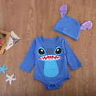 US Newborn Infant Baby Boy Girl Cartoon Romper Jumpsuit Body
