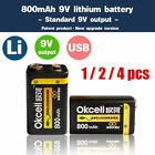High Quality OKcell 9V 800mAh USB Charge Rechargeable Battery For RC Helicopter