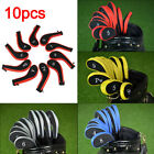 Latest 10pcs/Set Golf Club Iron PU Number Protection Head Covers