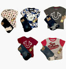 "NWT TRUE RELIGION KIDS/Boys SZS 4, 5 2PC Tee & Jean sets, ""Blue Camo"" or ""Patch"""