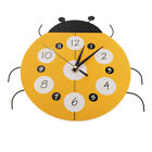 Home Kitchen Wall Mount Clock Ladybug Ladybird Shaped Home Clock Time Watch