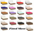 1000 TC Egyptian Cotton Deep Pkt Fitted Sheet Solid/Stripe All Color King Size