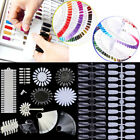 600x False Nail Tips Polish Palette Nail Art Practice Fan Color Sticker Display