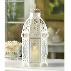 Lacy Cutout Candle Lantern - 12 inches