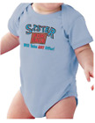 Infant creeper bodysuit One Piece t-shirt Sister For Sale Will Take Offer k-3481