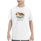 Youth Kids T-shirt Beach Bum Puppy Dog In Shell k-682