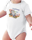Infant creeper bodysuit One Piece t-shirt Beach Princess Kitten Kitty Cat k-687