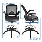 Drafting Chair Mid Back Swivel Chair Adjustable Height Computer Office Desk Seat