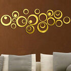 3D DIY Removable Mirror Wall Sticker Bedroom Living Room Decal Family Decor