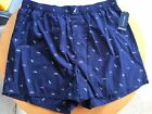 NWT Men's Nautica Novelty Print Woven Boxers Underwear Gift Size M/L/XL