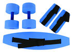 CanDo deluxe aquatic exercise kit, jogger belt, ankle cuffs, hand bars , medium