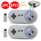 2.4G USB Wireless Controller Gamepad For Super Nintendo NES SNES Classic Mini US