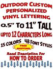 Personalized Custom Vinyl Sticker Decal Outdoor Lettering Ca