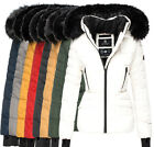 Navahoo Damen Warm Winter Jacke Parka Winter mantel Steppjacke gefüttert  ADELE