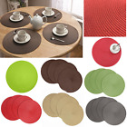 Внешний вид - Fine Holiday Christmas Round Woven Table Pads Placemats PP Waterproof Cloth Mats