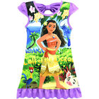 Dress For Girls Moana Cosplay Costume Sleepshirts Nightdress Sleeveless Xmas Bow