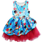 Dress & Necklace For Girls Kids Moana Cosplay Costume Bow Princess Sleeveless