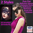 Black Lace Eye Mask Venetian Masquerade Ball Halloween Costume Sexy Party Lot