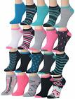 Tipi Toe Women's 20 Pairs Colorful Patterned Low Cut/No Comf