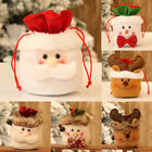 Внешний вид - Christmas Kids Gift Candy Bags Santa Claus Snowman Elk Storage Bag Xmas Decor x5