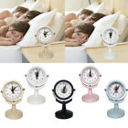 Home Small Alarm Clock Travel Alarm Clock No Ticking Silent Rotating Design