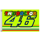 Rossi 46 Flag 3x5ft Yellow Doctor Banner Valentino Moto-GP F