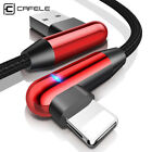 Cafele 90 Degree LED Lightning Fast Charging  USB Cable For iPhoneX R XS MAX X 8